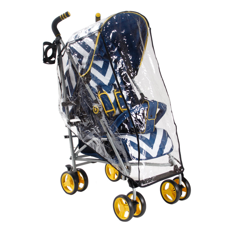 My Babiie Blue Chevron Stroller with Raincover @ My Crib Rocks