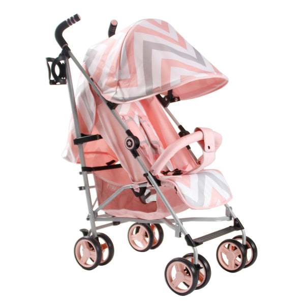 My Babiie Pink Chevron Stroller @ My Crib Rocks
