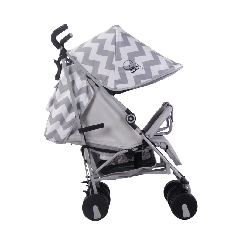 My Babiie Billie Faiers MB22 Twin Pushchair Grey Chevron