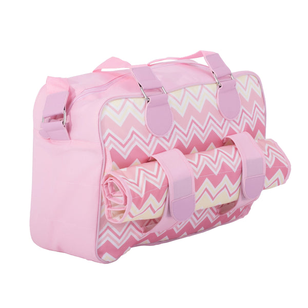 My Babiie Samantha Faiers Dreamiie Pink Chevron Deluxe Changing Bag