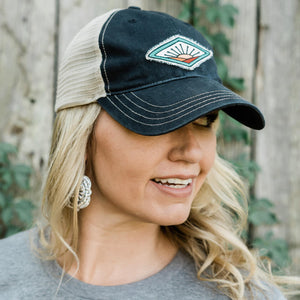Farm On Trucker Hat - Black/Khaki