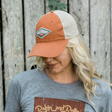 Load image into Gallery viewer, Farm On Trucker Hat - Burnt Orange/Khaki