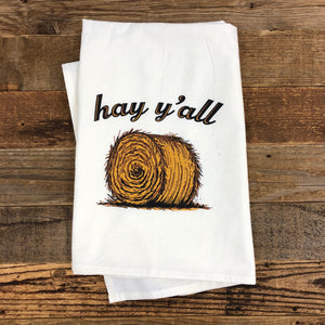 Hay Y'all Flour Sack Towel