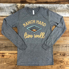 Load image into Gallery viewer, UNISEX RANCH Hard, Live Well Long Sleeve - Heather Grey