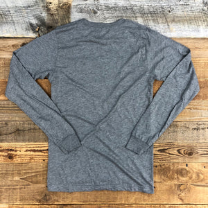 UNISEX RANCH Hard, Live Well Long Sleeve - Heather Grey