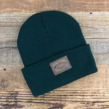 Load image into Gallery viewer, The Sportsman Sunrise Leather Patch Beanie