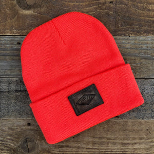 The Sportsman Sunrise Leather Patch Beanie