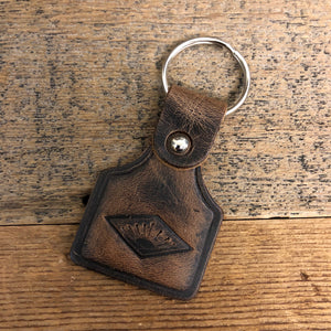 Sunrise Leather Keychain