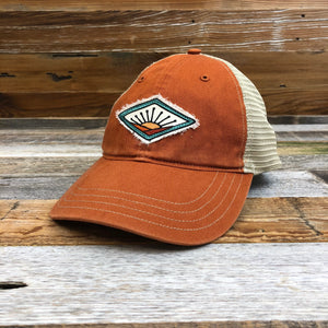 Farm On Trucker Hat - Burnt Orange/Khaki