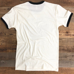 Corn Fed Cow Ringer Tee - Natural/Black