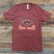 Load image into Gallery viewer, Farm Hard, Live Well Tee - Clay