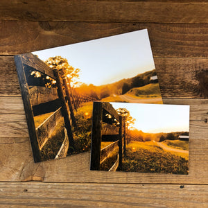 Sunset Fence Line Print
