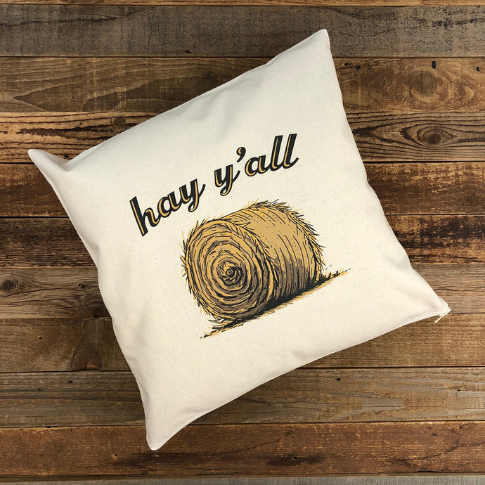 HAY Y'ALL Pillows - Canvas