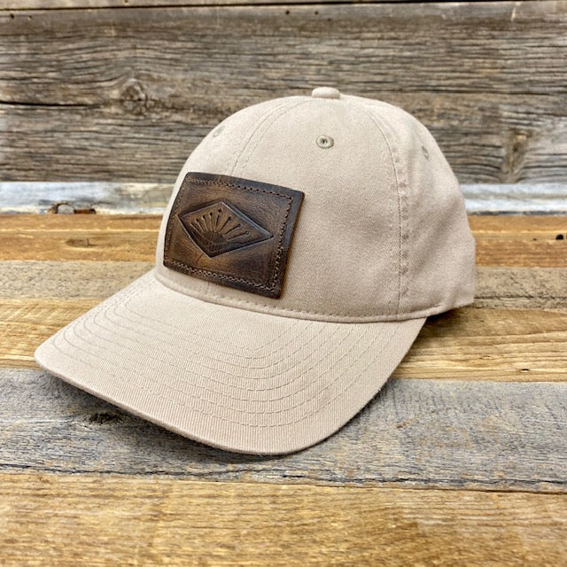 Sunrise Leather Patch Flex-Fit Hat - Khaki