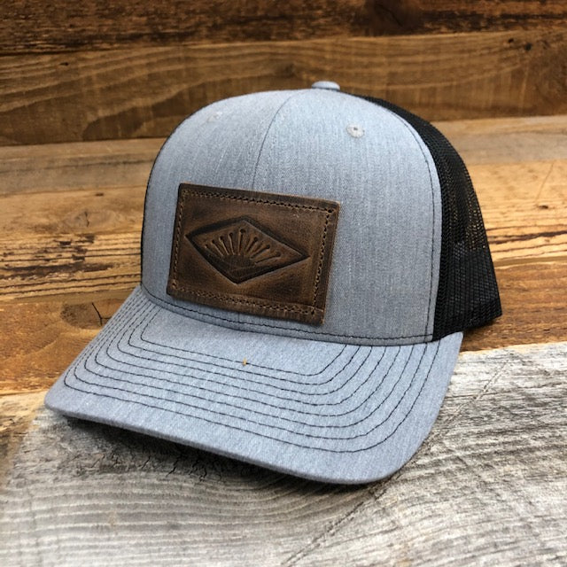 Sunrise Leather Patch Hat - Heather Grey/Black
