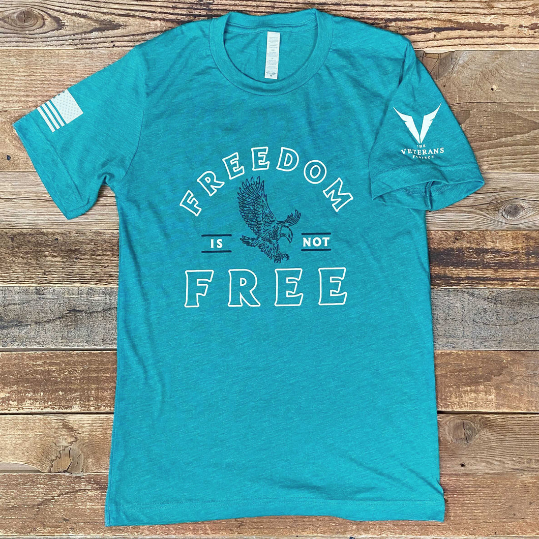 FREEDOM IS NOT FREE // VETERANS PROJECT TEE - Teal Heather