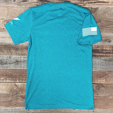 Load image into Gallery viewer, FREEDOM IS NOT FREE // VETERANS PROJECT TEE - Teal Heather