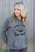Load image into Gallery viewer, UNISEX Farm Hard, Live Well Hoodie - Nickel