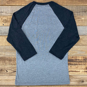 Calving Season Baseball Tee - Heather Grey/Black