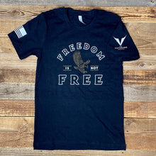 Load image into Gallery viewer, FREEDOM IS NOT FREE // VETERANS PROJECT TEE - Black Heather