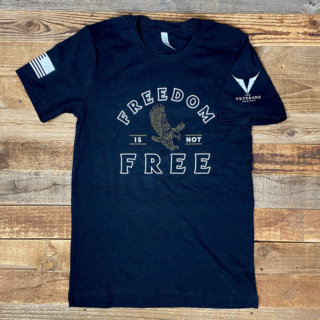 FREEDOM IS NOT FREE // VETERANS PROJECT TEE - Black Heather