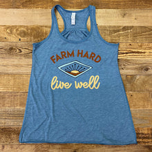 Load image into Gallery viewer, Women's Farm Hard Sunrise Tank - Heather Deep Teal