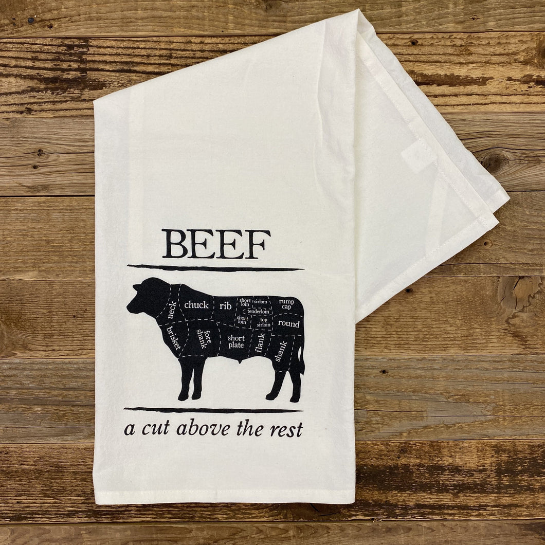 BEEF : A Cut Above Flour Sack Towel