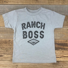 Load image into Gallery viewer, TODDLER Ranch Boss Tee - Heather Stone