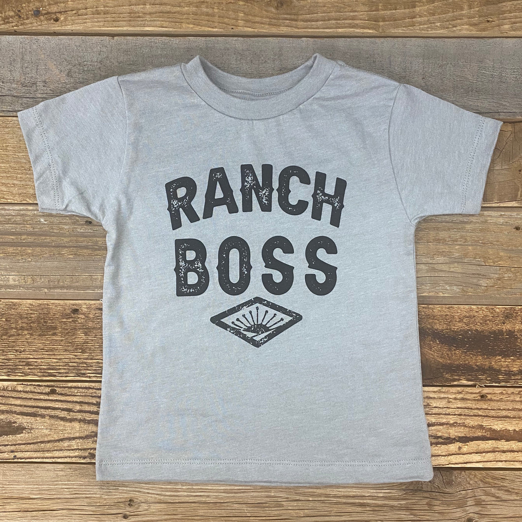 TODDLER Ranch Boss Tee - Heather Stone