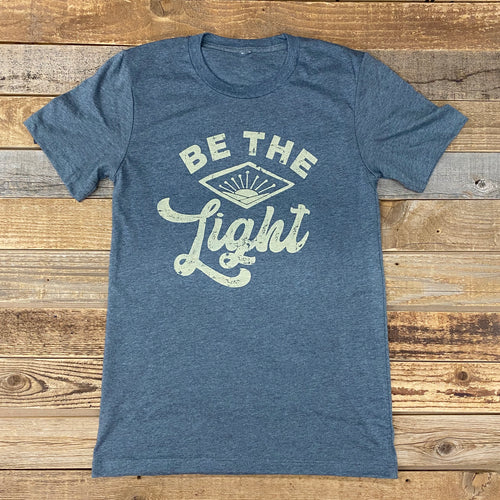 Be The Light Tee - Deep Heather