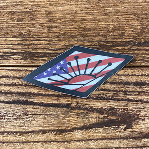 The American Sunrise Sticker