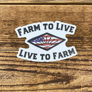 The Farm To Live Sticker
