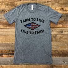 Load image into Gallery viewer, UNISEX Farm to Live, Live to Farm Tee - Heather Grey