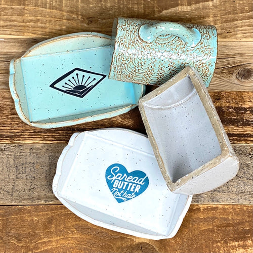 NEW BUTTER DISHES • Spread 💙  Butter  // Teal Sunrise