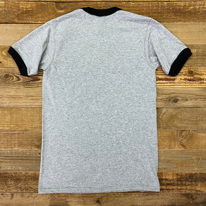 Team Beef Ringer Tee - Heather Grey/Black