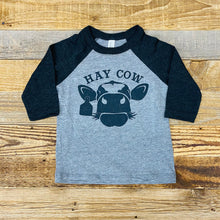 Load image into Gallery viewer, TODDLER Hay Cow Baseball Tee