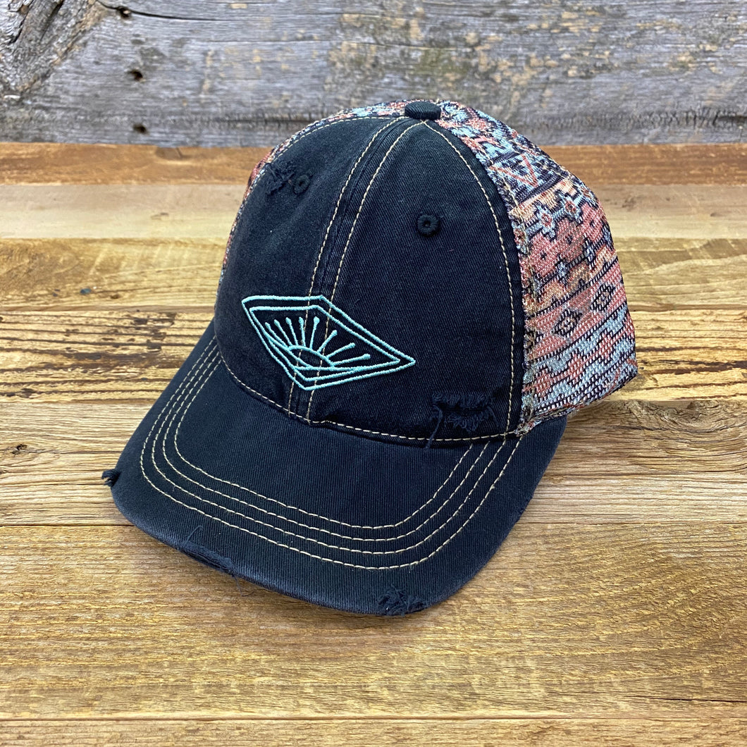 Aztec Sunrise Hat - Black
