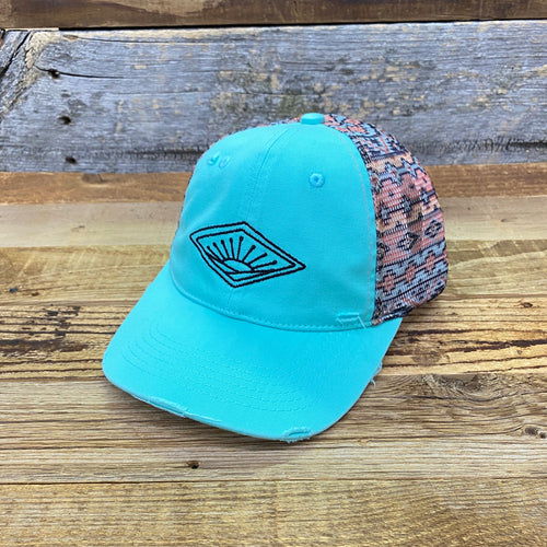 Aztec Sunrise Hat - Teal