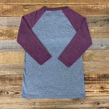 Load image into Gallery viewer, Spread Butter Baseball Tee - Heather Grey/Maroon