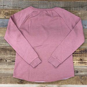 Women's Farm Hard, Live Well Crew Sweatshirt - Dusty Rose