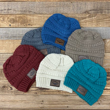 Load image into Gallery viewer, The Classic Sunrise Leather Patch Beanie