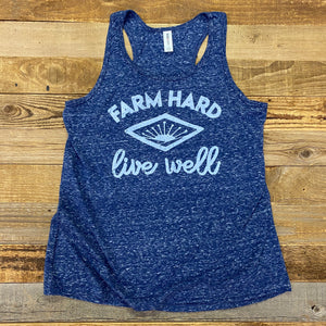 Women's Farm Hard Jersey Tank - Navy Heather