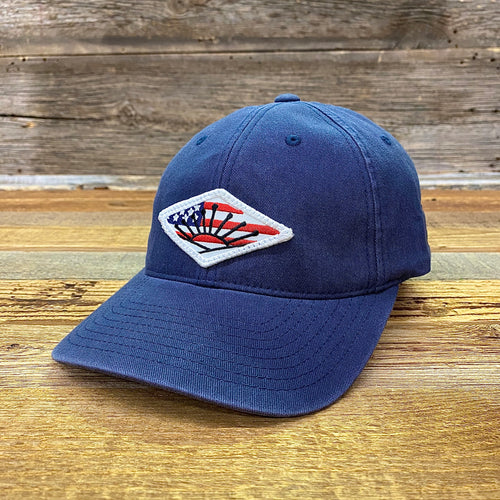 American Sunrise Flag Patch Hat - Navy