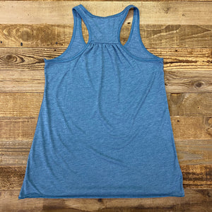 Women's Farm Hard Sunrise Tank - Heather Deep Teal