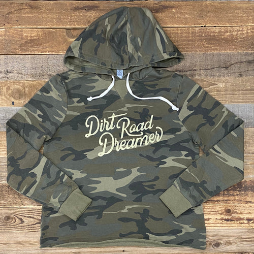 Dirt Road Dreamer Burnout Hoodie - Camo
