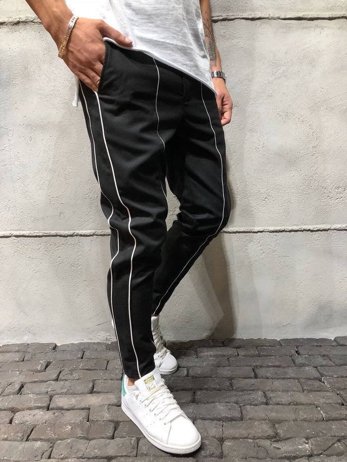 Ankle Pants Front and Side Stripes 3945