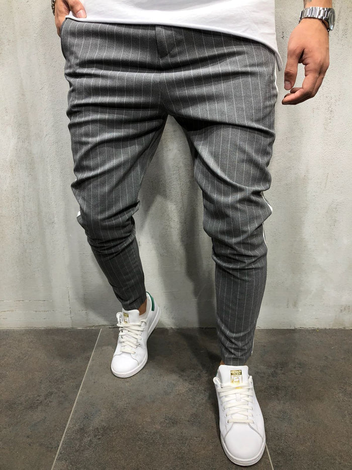 Striped Ankle Pants Streetwear 4035