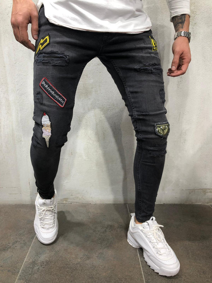 Patched Jeans Skinny Fit 4109