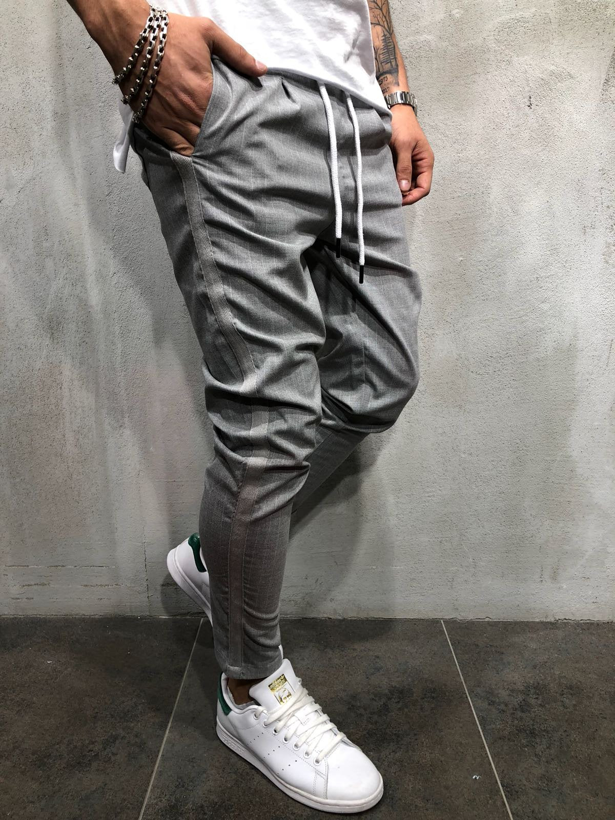 Ankle Pants Streetwear Striped 4388
