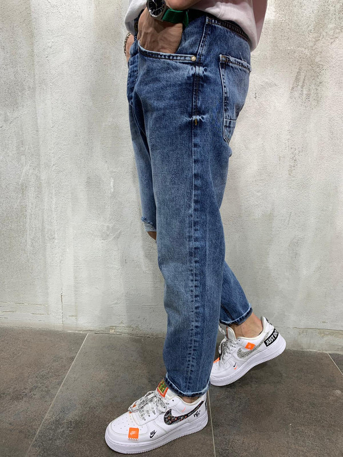 Ripped Jeans Light Wash 4396